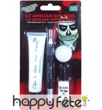 Kit de maquillage phosphorescent