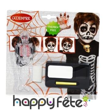 Kit de maquillage squelette