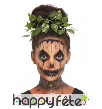 Kit de maquillage visage de citrouille halloween