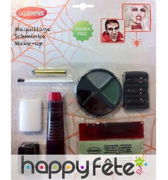 Kit de Maquillage zombie de luxe