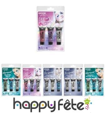 Kit de paillettes cosmétiques à thème en tube