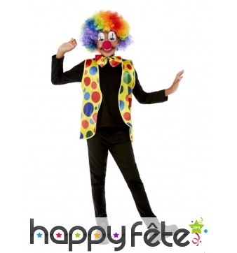 Kit de petit clown multicolore