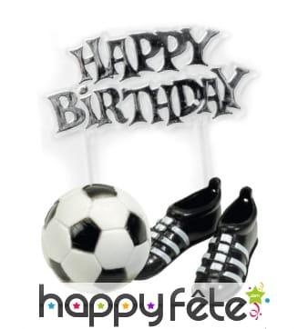 Kit décoratif pour gâteau thème football