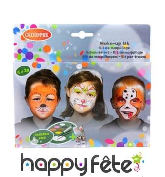 Kit maquillage animaux