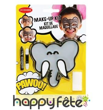 Kit maquillage d'éléphant pour enfant