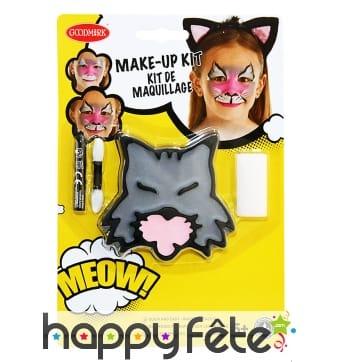 Kit maquillage de chat pour enfant