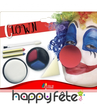 Kit maquillage de clown