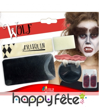 Kit maquillage de loup-garou