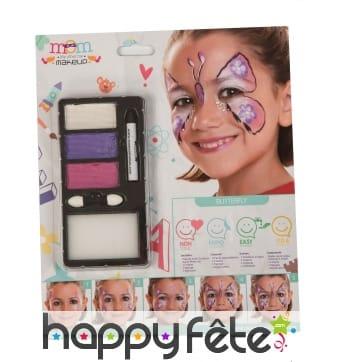 Kit Maquillage de papillon pour enfant