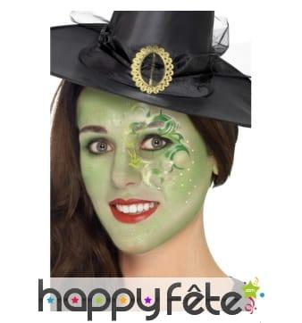 Kit maquillage de sorcière verte