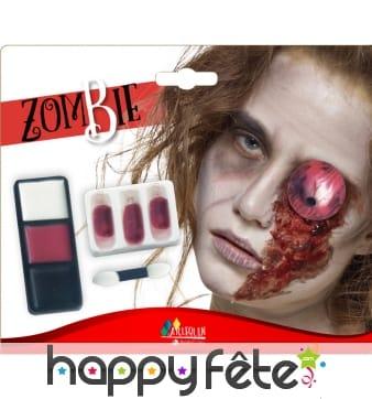 Kit maquillage de zombie