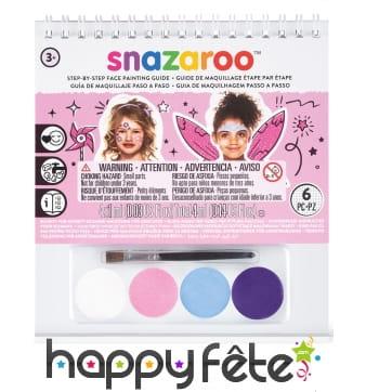 Kit maquillage fille avec livret, Snazaroo