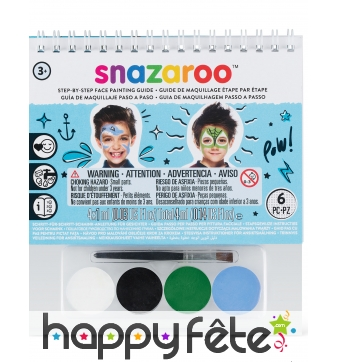 Kit maquillage garçon avec livret, Snazaroo