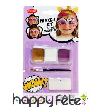 Kit maquillage licorne pour enfant