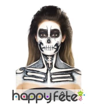 Kit pour maquillage de squelette au latex