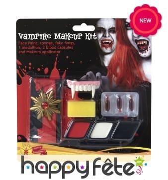 Kit vampire de maquillage pour adulte