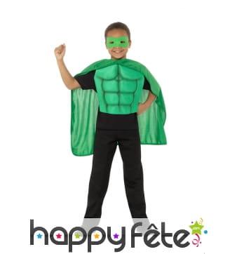 Kit vert de super héro pour enfant