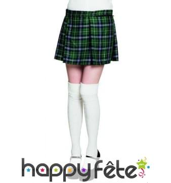 Kilt vert écossais pour femme
