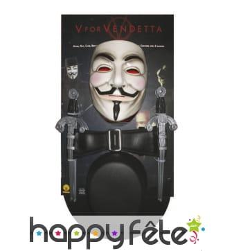 Kit V pour Vendetta de déguisement