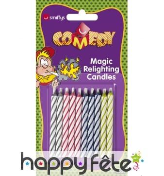 Lot 10 bougies magique