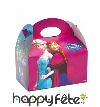 Lunch box La Reines des Neiges en carton