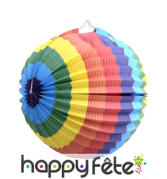 Lampion boule multicolore de 23cm