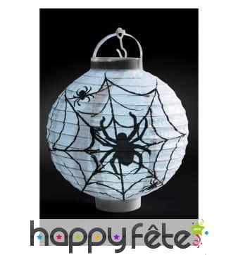 Lanterne blanche motif araignée, en papier