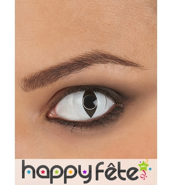 Lentilles blanches pupille de reptile