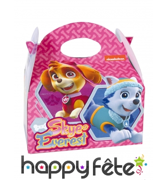Lunch box Skye et Everest en carton Pat Patrouille