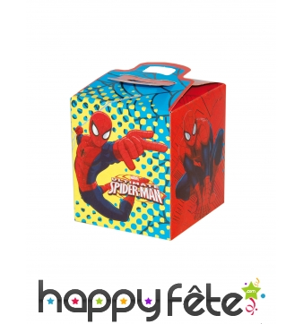 Lunch box Spiderman en carton carrée