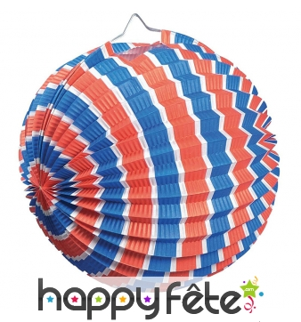 Lampion boule tricolore de 25cm