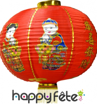 Lanterne chinoise avec bruit de pétards