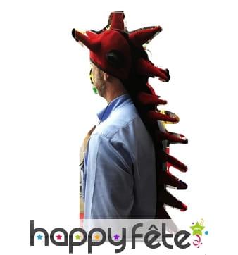 Longue coiffe crinière de dragon
