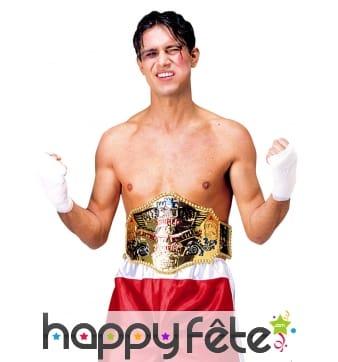 Large ceinture de champion de boxe
