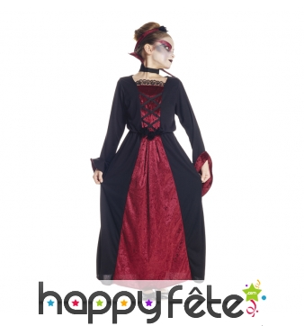 Long costume de vampire pour fille