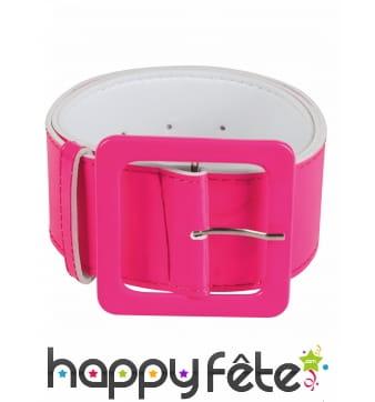Large ceinture fluo rose pour femme 115cm
