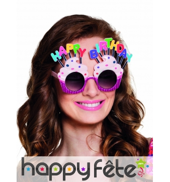 Lunettes cupcake Happy Birthday