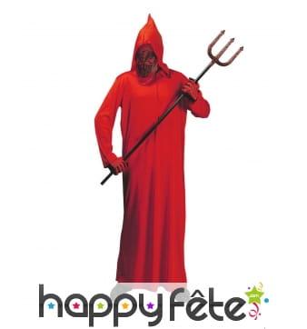 Long costume rouge de démon rouge pour enfant