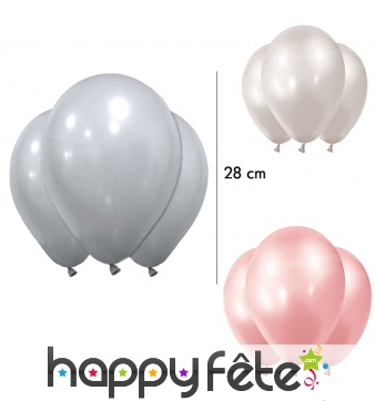 Lot de 12 Ballons en latex, 28 cm