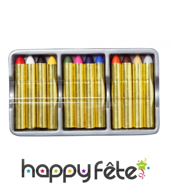 Lot de 12 crayons de maquillage