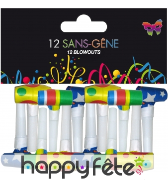 Lot de 12 sans gene colorés