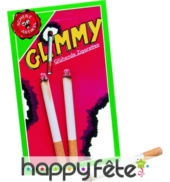 Lot de 2 cigarettes allumees