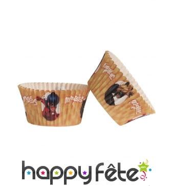 Lot de 25 Moules Ladybug pour cupcakes, 5 x 3 cm