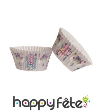 Lot de 25 Moules Peppa Pig pour cupcakes, 5 x 3 cm