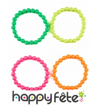 Lot de 4 bracelets multicolores pour adulte