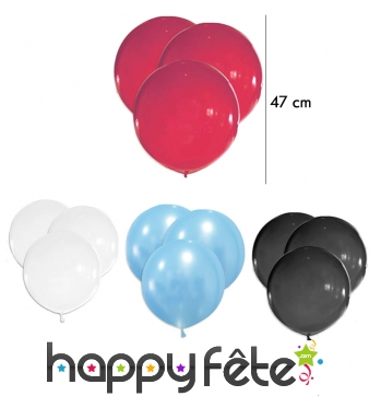 Lot de 5 grands Ballons, 47 cm