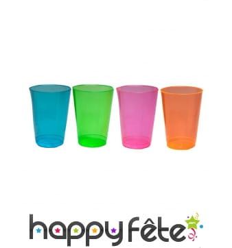Lot de 50 verres demi-pinte en plastique coloré