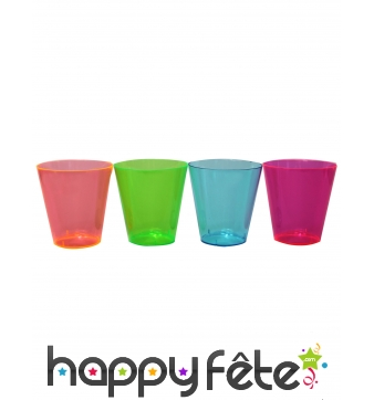 Lot de 50 verres shooter en plastique coloré