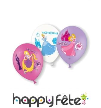 Lot de 6 ballons des Princesses Disney, 28 cm