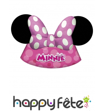 Lot de 6 Chapeaux Minnie Mouse, cotillon